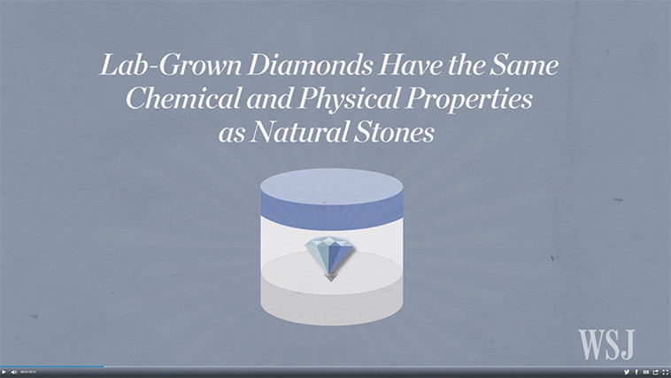 WSJ: Lab-Grown Diamonds: How They're Made, How They Differ
